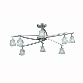 31171-32 Triarch International 8 Light Milan Semi-Flush