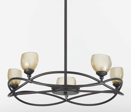 31213 Triarch International 5 Light Retro Chandelier