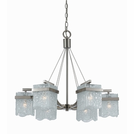 31373 Triarch International 6 Light Arctic Ice Chandelier