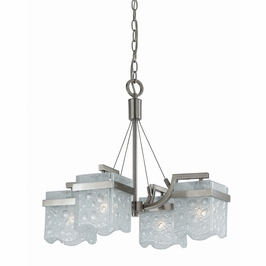31378 Triarch International 4 Light Arctic Ice Chandelier