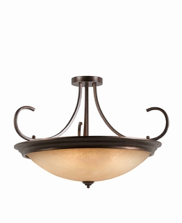 31401-38 Triarch International 10 Light Lacosta Semi-Flush
