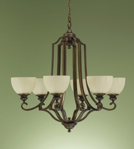 F2194-6FG Murray Feiss Lighting Ashton Manor Collection Chandelier