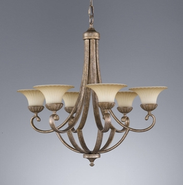 F2199-6GIS Murray Feiss Lighting Benson Towhouse Collection Chandelier SPECIAL PRICING!!!