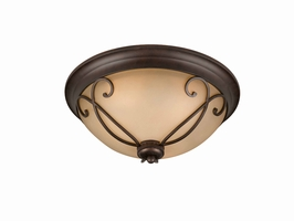 31436-17 Triarch International 3 Light Corsica Flush Mount