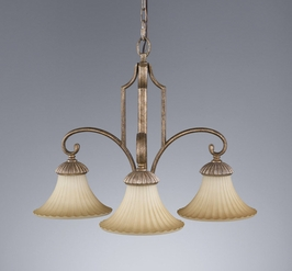 F2200-3GIS Murray Feiss Lighting Benson Towhouse Collection Chandelier - Kitchen SPECIAL PRICING!!!