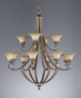F2202-8-4GIS Murray Feiss Lighting Benson Towhouse Collection Chandelier SPECIAL PRICING!!!