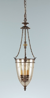 F2204-3FG Murray Feiss Lighting Tres Chic Belle Fluer Collection Chandelier - Hall Duo