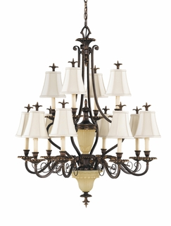 F2209/8+4FG Murray Feiss Tres Chic Belle Fleur 12 Light Belle Fleur in Firenze Gold Finish