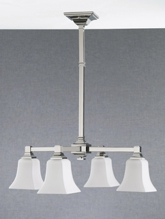 F2213-4PN Murray Feiss Lighting American Foursquare Collection Chandelier - Kitchen SPECIAL PRICING!!!