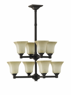F2216-4-4ORB Murray Feiss Lighting American Foursquare Collection Chandelier