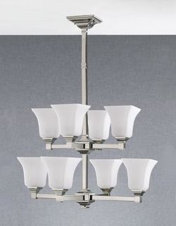 F2216-4-4PN Murray Feiss Lighting American Foursquare Collection Chandelier SPECIAL PRICING!!!
