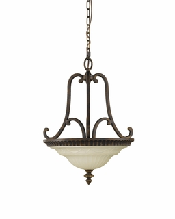 F2223/2WAL Murray Feiss Drawing Room 2 Light Uplight Chandelier in Walnut Finish