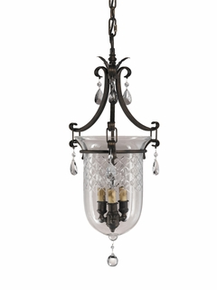 F2227/3ATS Murray Feiss Salon Maison 3 Light Chandelier in Aged Tortoise Shell Finish