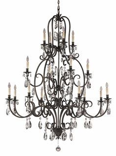 F2230/8+4+4ATS Murray Feiss Salon Maison 16 Light Multi Tier Chandelier in Aged Tortoise Shell Finish