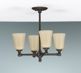 F2231-4ORB Murray Feiss Lighting Huguenot Lake Collection Chandelier SPECIAL PRICING!!!