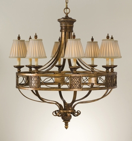 F2233-8MRT Murray Feiss Lighting Marquee Collection 8-Light Chandelier SPECIAL PRICING!!!