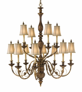 F2234/8+4MRT Murray Feiss Lighting Marquee Collection 2-Tier 12-Light Chandelier with Merlot Finish