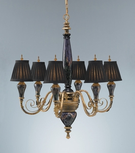 F2235-6BKR Murray Feiss Lighting Society Hill Collection 6-Light Chandelier