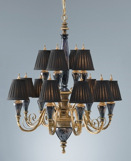 F2236-8-4BKR Murray Feiss Lighting Society Hill Collection 2-Tier 12-Light Chandelier SPECIAL PRICING!!!