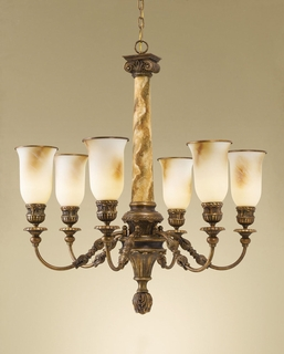 F2237-6FG Murray Feiss Lighting Villa Ribero Collection 6-Light Chandelier SPECIAL PRICING!!!