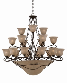 31605 Triarch International 27 Light The Whisper Entry Chandelier