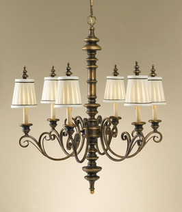 F2244-6FG Murray Feiss Lighting Warwick Boulevard 6-Light Chandelier SPECIAL PRICING!!!