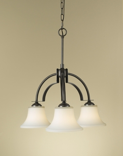 F2250/3ORB Murray Feiss Barrington 3 Light Chandelier in Oil Rubbed Bronze Finish