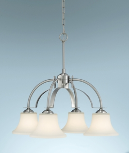 F2251/4BS Murray Feiss Barrington 4 Light Chandelier in Brushed Steel Finish