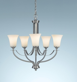 F2252/5BS Murray Feiss Barrington 5 Light Hall in Brushed Steel Finish