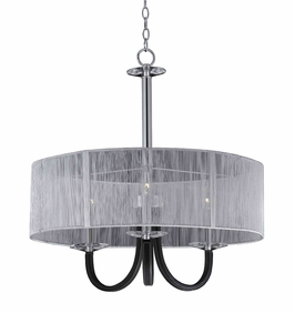 32142 Triarch International 3 Light Oxford Semi Flushmount Convertible Pendant