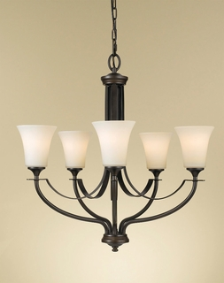 F2252/5ORB Murray Feiss Barrington 5 Light Single Tier Chandelier in Oil Rubbed Bronze Finish