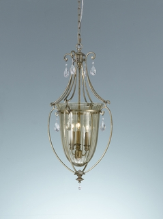 F2257-3MSH Murray Feiss Lighting Smokey Topaz Collection 3-Light Hallway Chandelier SPECIAL PRICING!!!