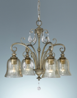 F2258-4MSH Murray Feiss Lighting Smokey Topaz Collection 4-Light Kitchen Chandelier SPECIAL PRICING!!!
