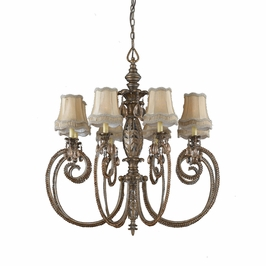 32517 Triarch International 8 Light Mardis Gras Chandelier