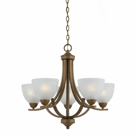 33283-Ag Triarch International 5 Light Value Series Chandelier