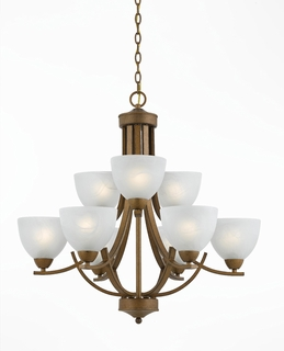 33284-Ag Triarch International 9 Light Value Series Chandelier