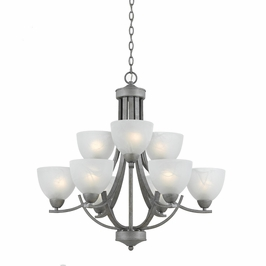 33284-Os Triarch International 9 Light Value Series Chandelier