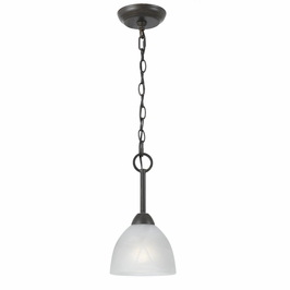 33289-Rust Triarch International 1 Light Value Series Min-Pendant