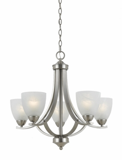 33293 Triarch International 5 Light Value Series Chandelier