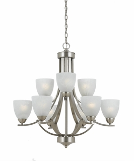 33294 Triarch International 9 Light Value Series Chandelier