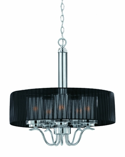 38522 Triarch International Cylindique 5 Light Pendant