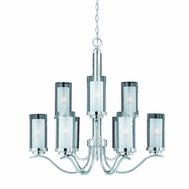 38524 Triarch International Cylindique 9 Light Chandelier