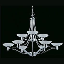 39479 Triarch International Halogen Vii 9 Light 2 Tier Chandelier