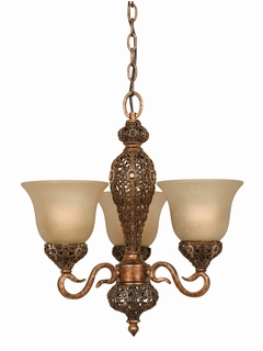 39648 Triarch International 3 Light Crown Jewel Mini-Chandelier