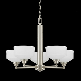 40113 Triarch International 5 Light Titan Energy Star Chandelier