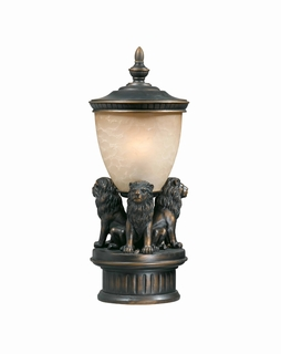 75539-14 Triarch International 3 Light Outdoor Lion Pier Mount