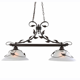 88017 Triarch International 2 Light Island Light With Antique Bronze Finish