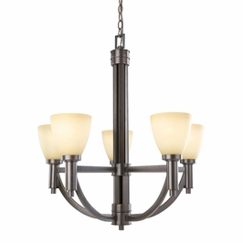 88018 Triarch International 5 Light Chandelier With Golden Taupe Bronze Finish
