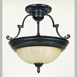 TL1374EP Quoizel Lighting Tradewinds Semi-Flush Mount with Espresso Finish