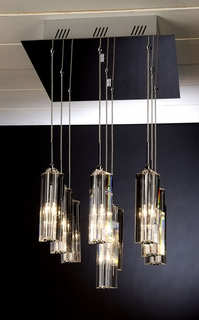 """A900126-9-T Trend """"Diamante"""" 9 Light with Polished Chrome (DISCONTINUED PRODUCT)"""